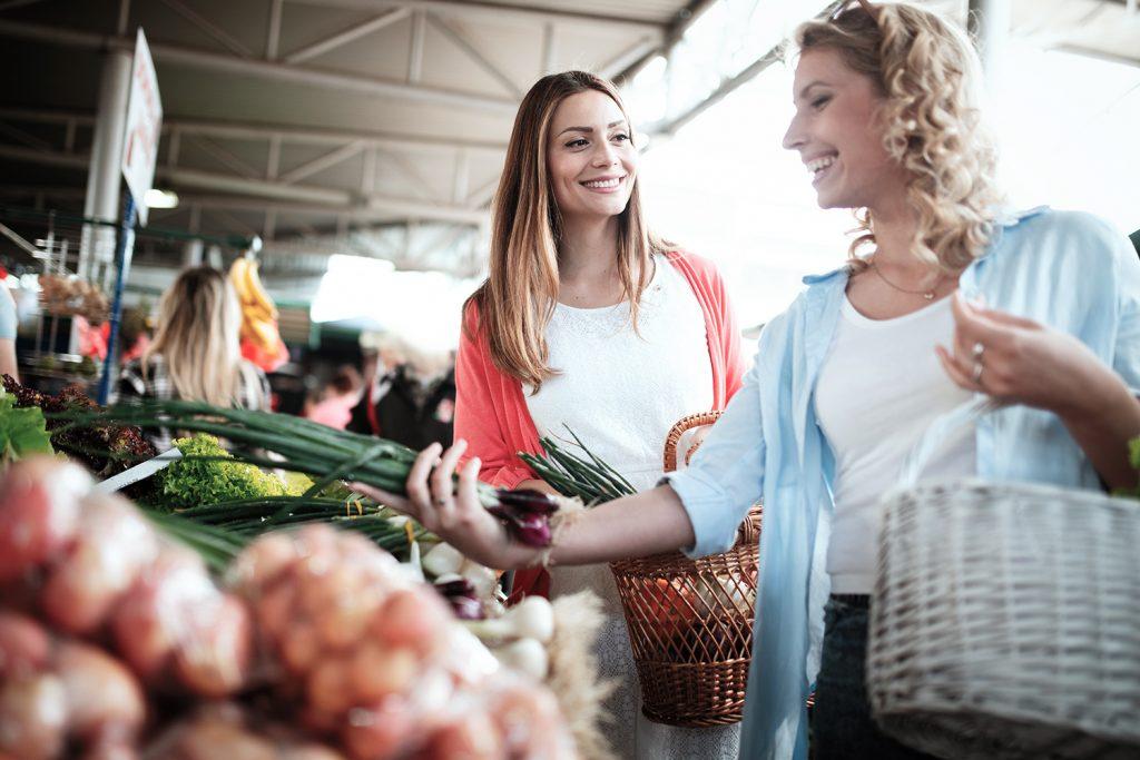 Výběr čerstvé zeleniny